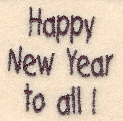 Embroidery Design: Happy New Year to all small2.02w X 2.08h