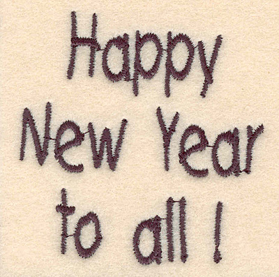 Embroidery Design: Happy New Year to all large2.71w X 2.79h