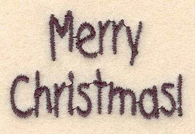 Embroidery Design: Merry Christmas small2.08w X 1.32h