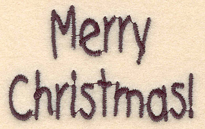 Embroidery Design: Merry Christmas large2.78w X 1.76h