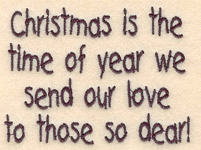 Embroidery Design: Christmas love small3.69w X 2.73h