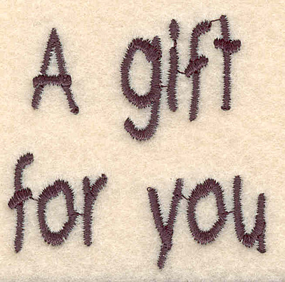 Embroidery Design: Gift large1.99w X 1.95h