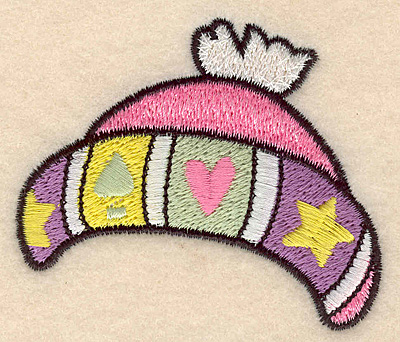"Embroidery Design: Winter hat large 3.00""w X 2.55""h"