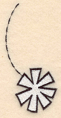 """Embroidery Design: Falling snowflake large 1.89""""w X 3.77""""h"""