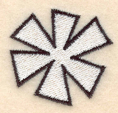"""Embroidery Design: Snowflake large 1.73""""w X 1.64""""h"""