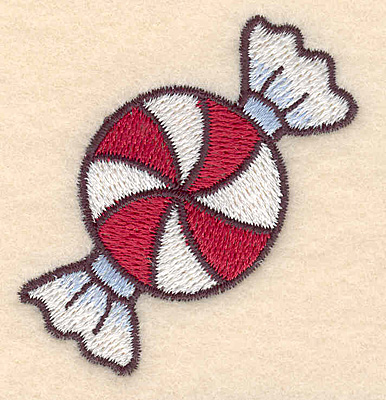 "Embroidery Design: Candy mint large2.23""Hx2.13""W"