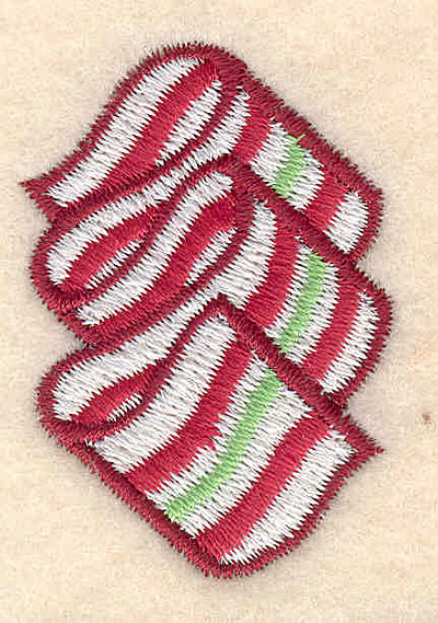 "Embroidery Design: Christmas candy small1.77""Hx1.23""W"