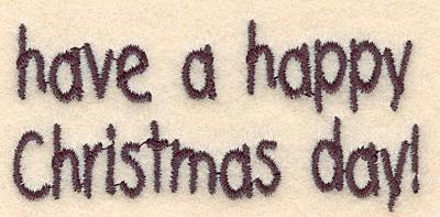 """Embroidery Design: Happy Christmas small1.44""""Hx3.04""""W"""