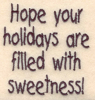 "Embroidery Design: Holiday sweetness small2.71""Hx2.54""W"