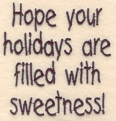 """Embroidery Design: Holiday sweetness large3.62""""Hx3.40""""W"""