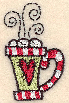 "Embroidery Design: Mug small2.93""H x 1.77""W"