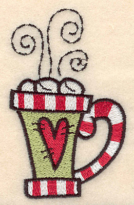 "Embroidery Design: Mug large3.75""H x 2.26""W"