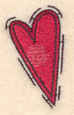 "Embroidery Design: Heart small2.00""H x 1.14""W"
