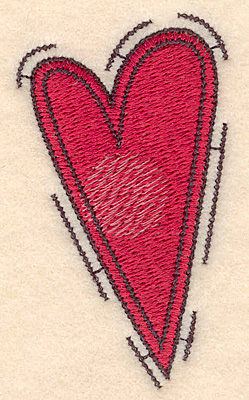 "Embroidery Design: Heart large3.00""H X 1.70""W"