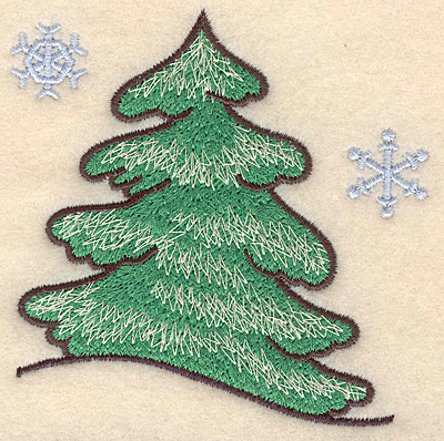 "Embroidery Design: Evergreen large3.64""H x 3.62""W"