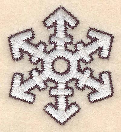 "Embroidery Design: Snowflake A1.76""H X 1.55""W"