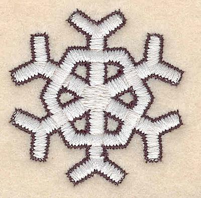 "Embroidery Design: Snowflake B1.69""H x 1.66""W"