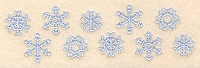 "Embroidery Design: Snowflake border1.51""H x 5.00""W"