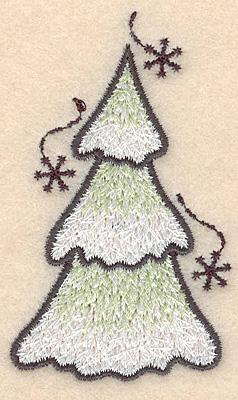 "Embroidery Design: Evergreen small3.00""H x 1.79""W"