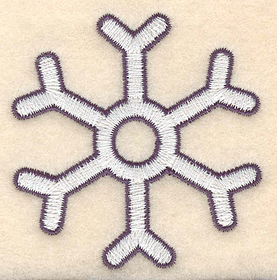 "Embroidery Design: Snowflake snow winter 2.59""H x 2.53""W"