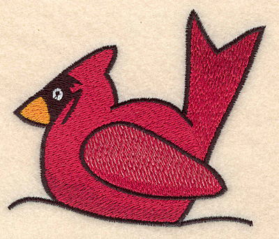 "Embroidery Design: Cardinal large3.34""H x 3.90""W"
