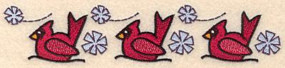 "Embroidery Design: Cardinal border1.45""H x 6.97""W"