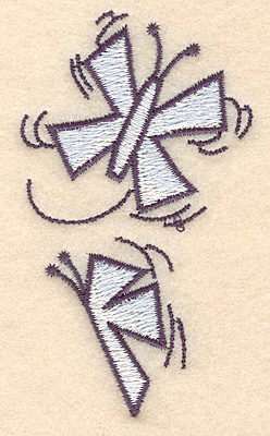 "Embroidery Design: Snow butterflies3.42""H x 1.96""W"
