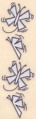 "Embroidery Design: Snow butterfly border6.90""H x 1.96""W"