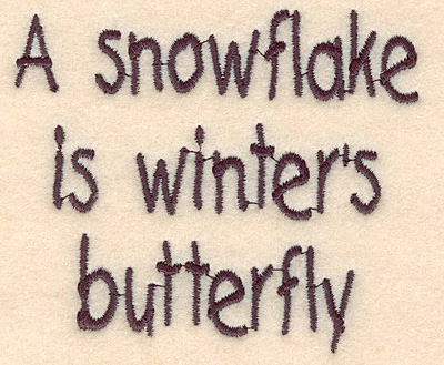 """Embroidery Design: Winter's butterfly large2.93""""H x 3.41""""W"""