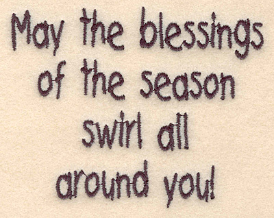 "Embroidery Design: Blessings of the season small3.00""H x 3.78""W"