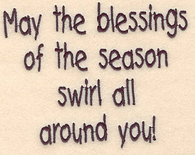 """Embroidery Design: Blessings of the season large4.02""""H x 5.06""""w"""