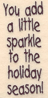 "Embroidery Design: Holiday sparkle large5.25""H x 2.23""W"