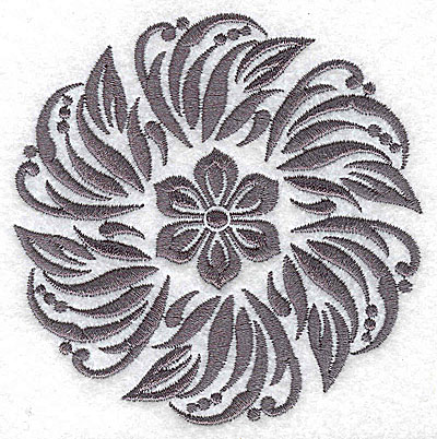 Embroidery Design: Damask Block 1 large 6.37w X 6.44h