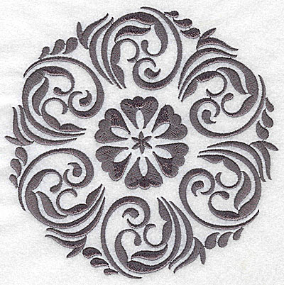 Embroidery Design: Damask Block 2 large 6.46w X 6.42h