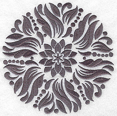 Embroidery Design: Damask Block 3 large 6.38w X 6.41h