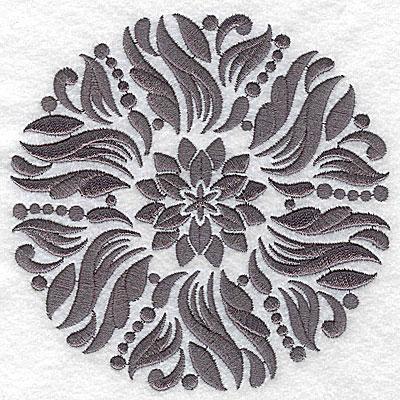 Embroidery Design: Damask Block 3 medium 4.91w X 4.94h