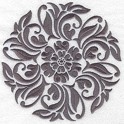 Embroidery Design: Damask Block 4 large 6.42w X 6.34h