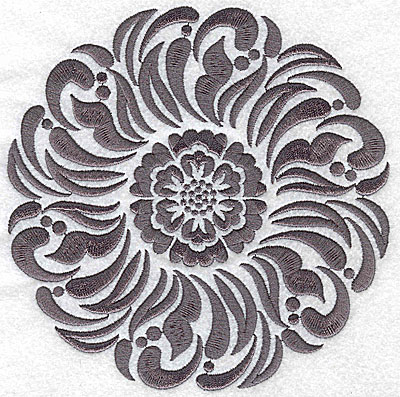 Embroidery Design: Damask Block 5 large 6.40w X 6.49h