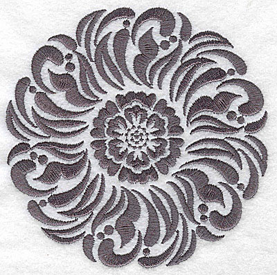 Embroidery Design: Damask Block 5 medium 4.92w X 4.96h