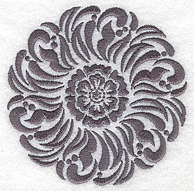 Embroidery Design: Damask Block 5 small 3.84w X 3.87h