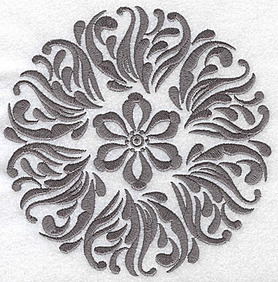 Embroidery Design: Damask Block 7 large 6.39w X 6.43h
