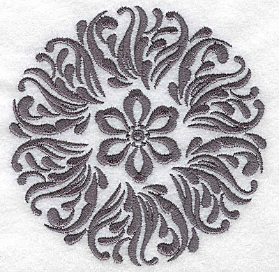 Embroidery Design: Damask Block 7 small 3.84w X 3.86h