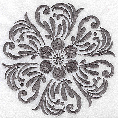 Embroidery Design: Damask Block 8 large6.46w X 6.46h