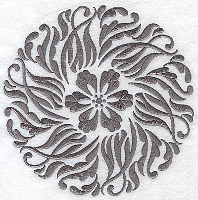 Embroidery Design: Damask Block 9 large 6.49w X 6.45h