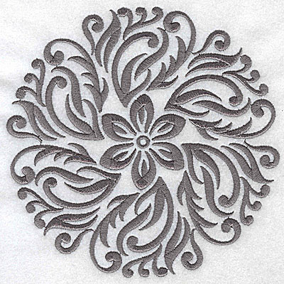 Embroidery Design: Damask Block 10 large 6.44w X 6.36h