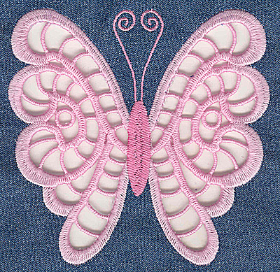 Embroidery Design: Cutwork Butterfly A large 4.93w X 4.80h