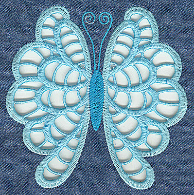 Embroidery Design: Cutwork Butterfly B large 4.98w X 4.94h