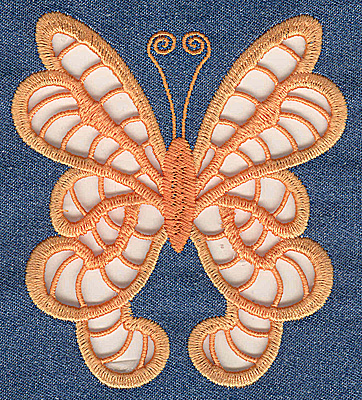 Embroidery Design: Cutwork Butterfly C large 4.36w X 4.95h