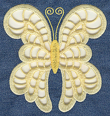Embroidery Design: Cutwork Butterfly E large 4.75w X 4.95h