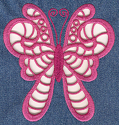 Embroidery Design: Cutwork Butterfly F large 4.60w X 4.94h